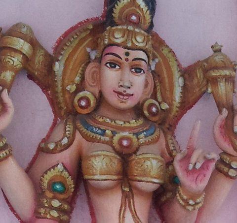 female deity at om shakti temple